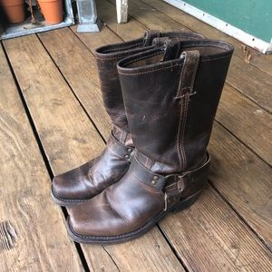 Frye Harness Boots, Size 8